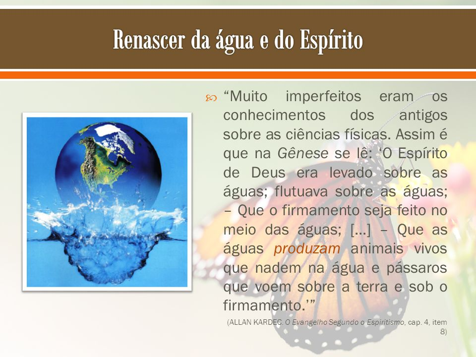 Renascer da água e do Espírito