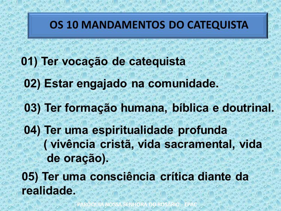 Os Mandamentos Na Vida Cristã: FORMAÇÃO PARA CATEQUISTA DE CRISMA