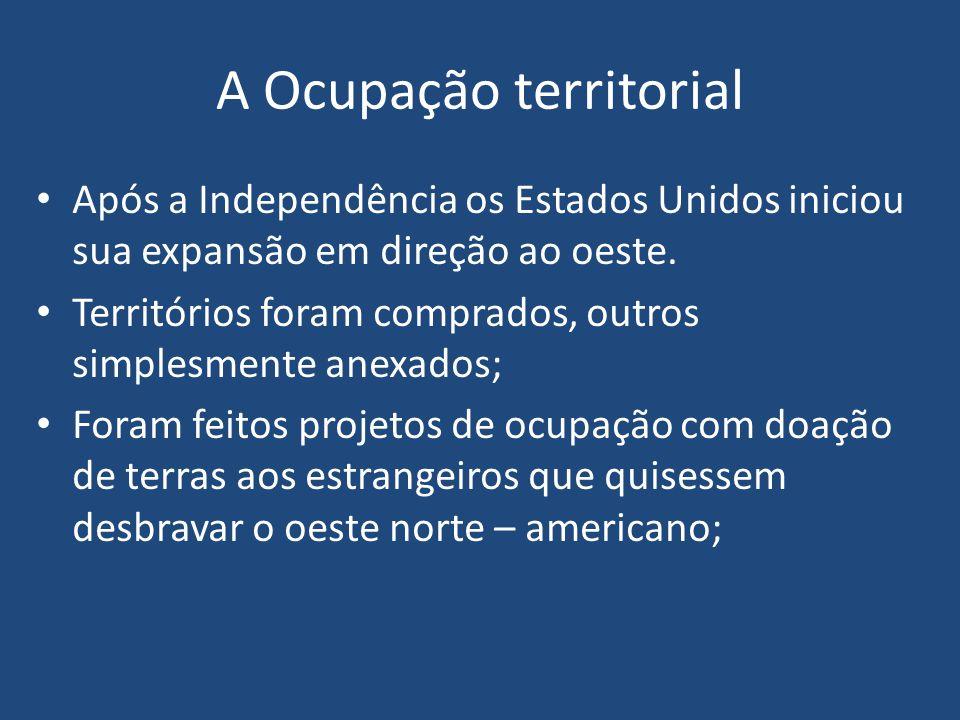 A Ocupação territorial