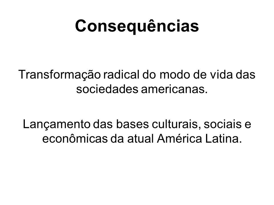 Transformação radical do modo de vida das sociedades americanas.