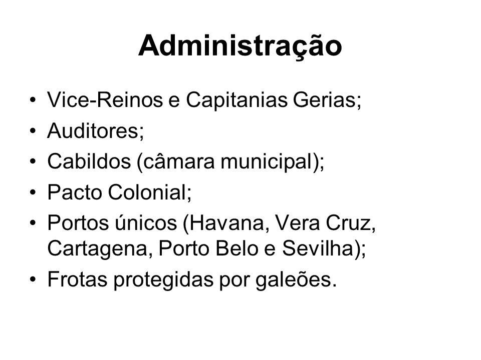 Administração Vice-Reinos e Capitanias Gerias; Auditores;