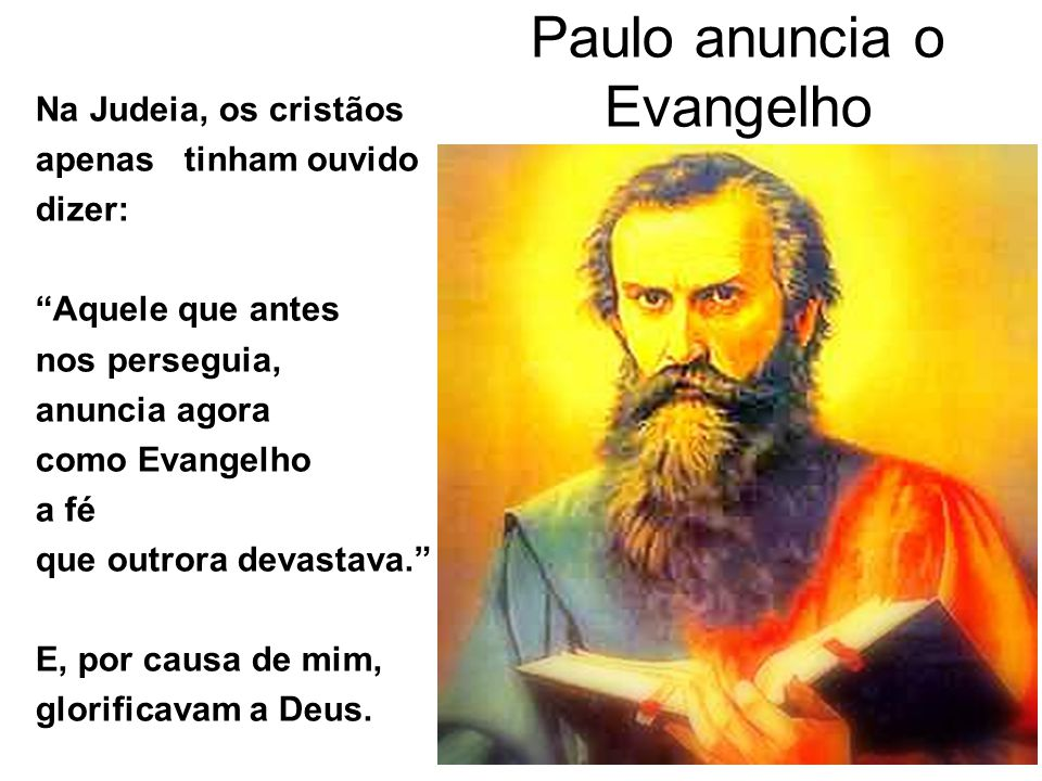 Paulo anuncia o Evangelho