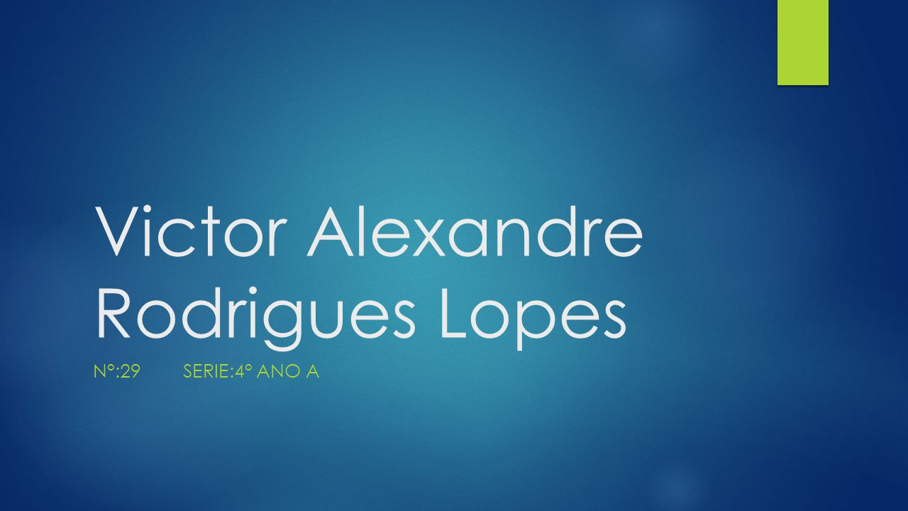 Victor Alexandre Rodrigues Lopes