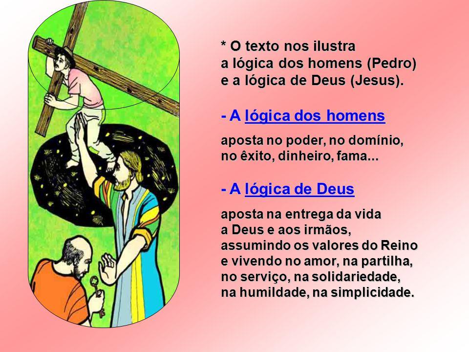 - A lógica dos homens - A lógica de Deus