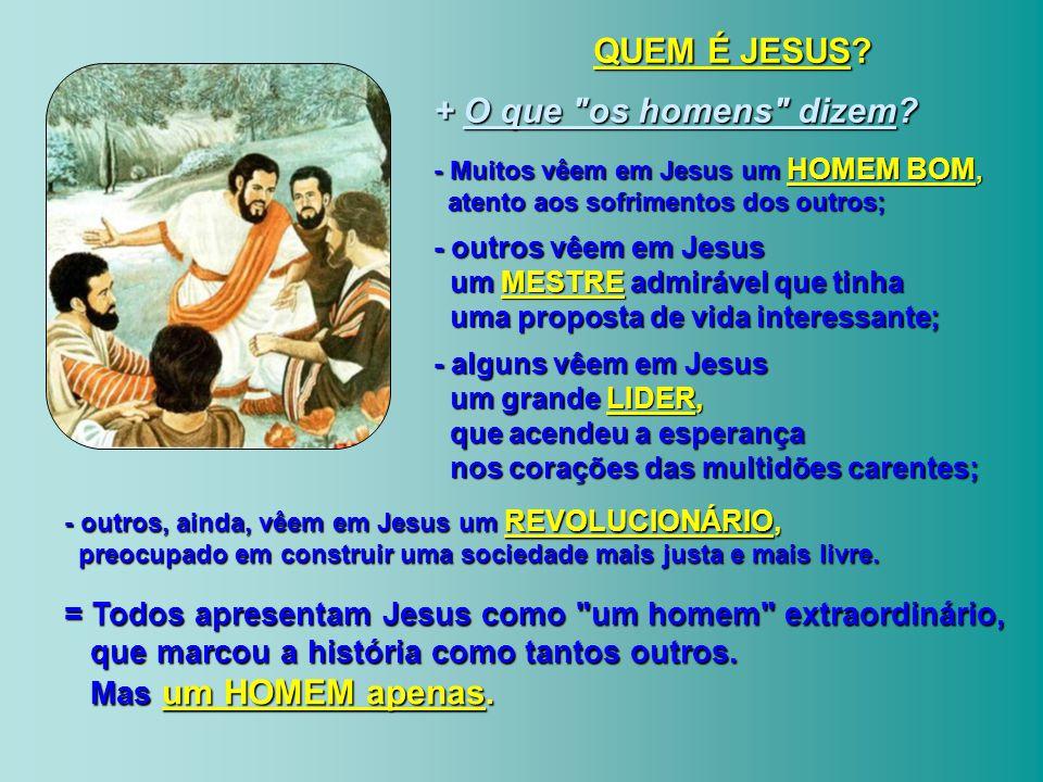 QUEM É JESUS + O que os homens dizem