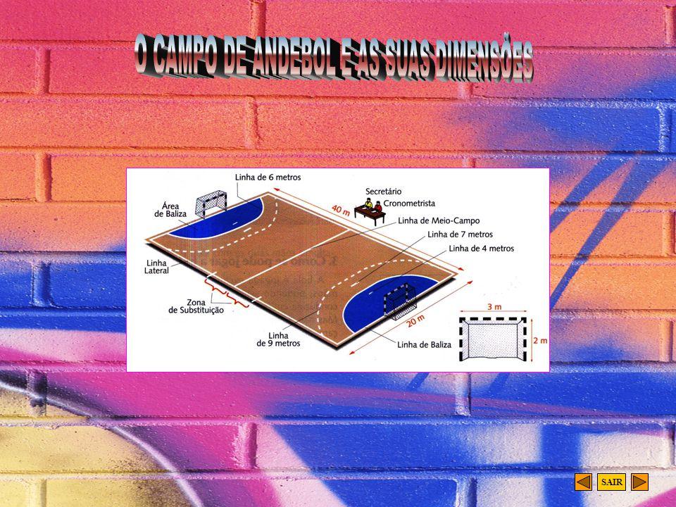 O CAMPO DE ANDEBOL E AS SUAS DIMENSÕES