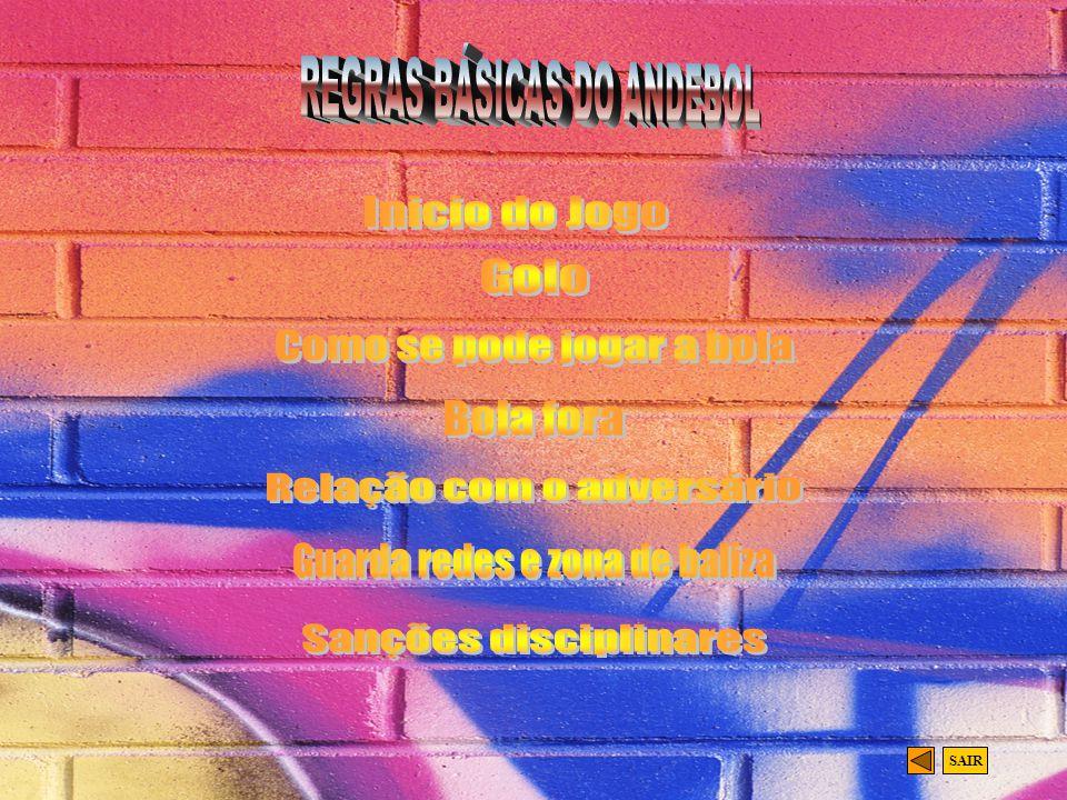 REGRAS BÁSICAS DO ANDEBOL