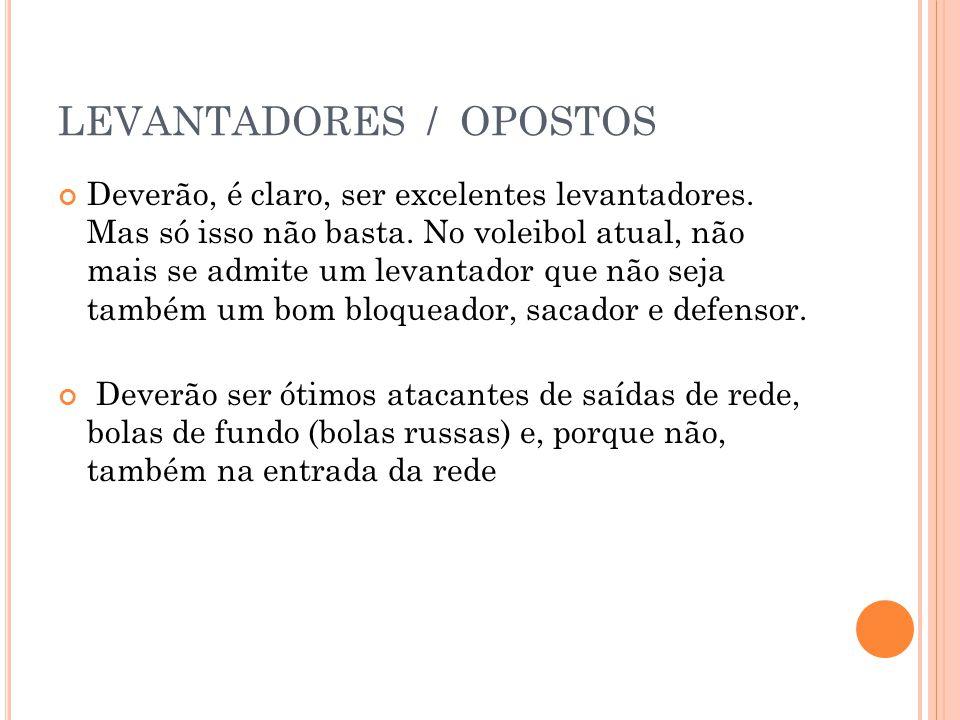 LEVANTADORES / OPOSTOS