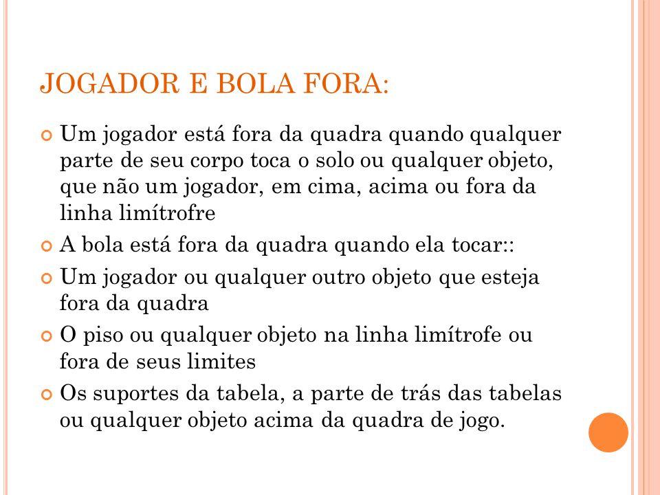 JOGADOR E BOLA FORA: