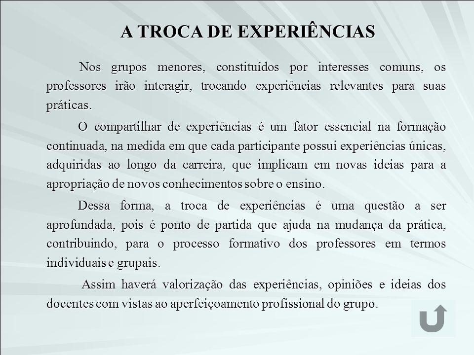 A TROCA DE EXPERIÊNCIAS
