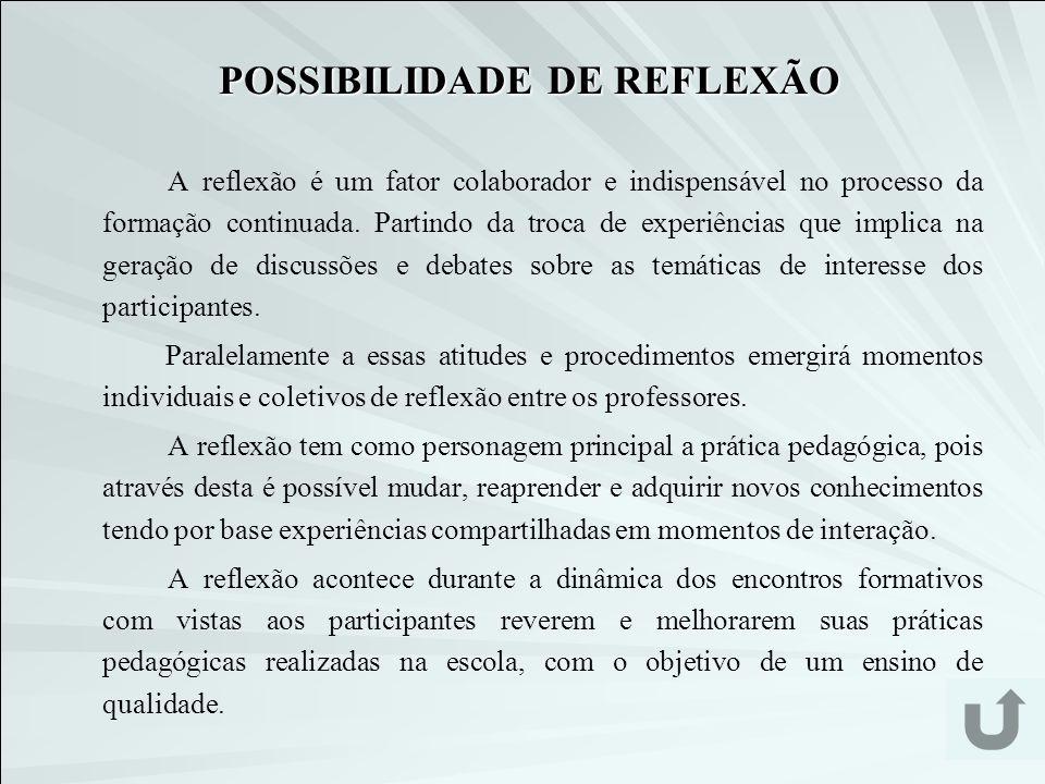 POSSIBILIDADE DE REFLEXÃO