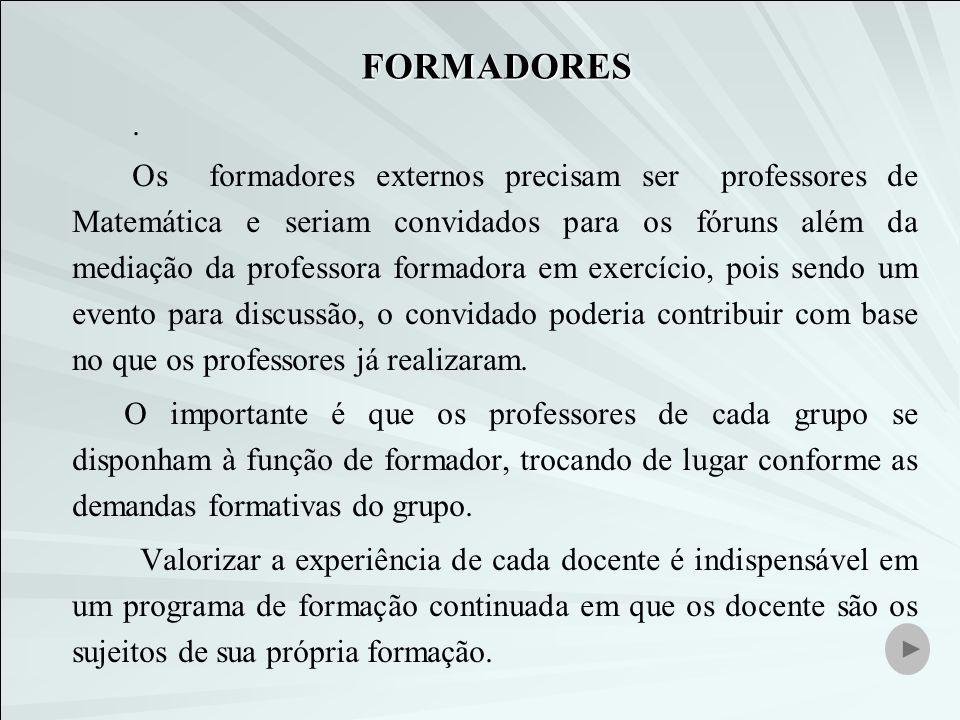 FORMADORES .