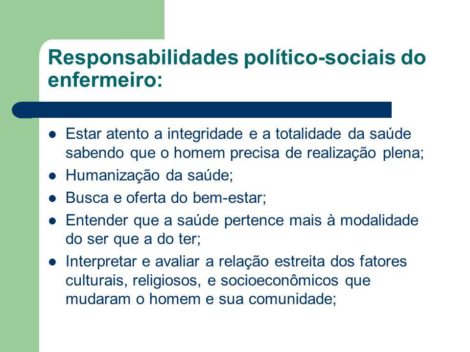 Responsabilidades político-sociais do enfermeiro:
