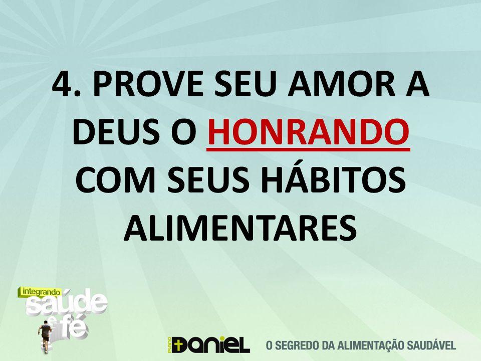 4. PROVE SEU AMOR A DEUS O HONRANDO COM SEUS HÁBITOS ALIMENTARES