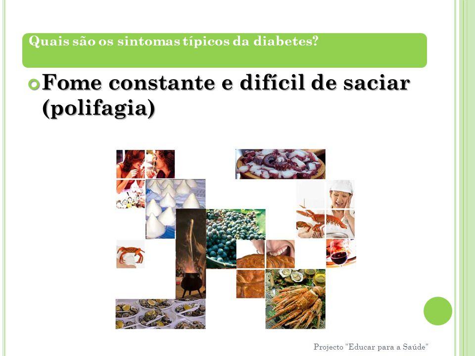 Fome constante e difícil de saciar (polifagia)