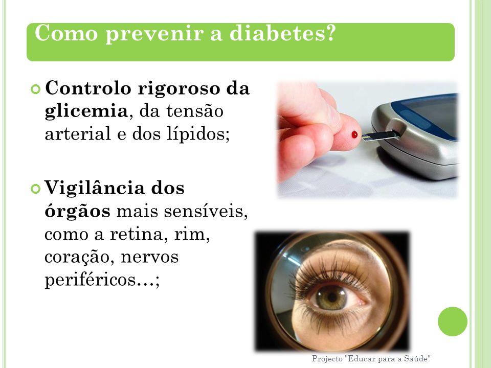 Como prevenir a diabetes