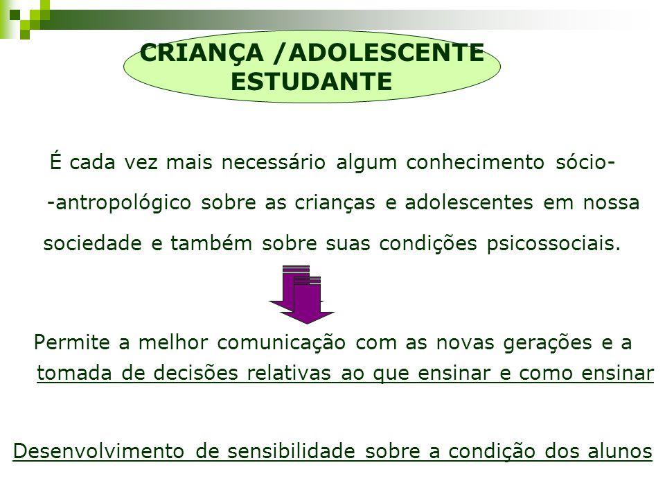 CRIANÇA /ADOLESCENTE ESTUDANTE