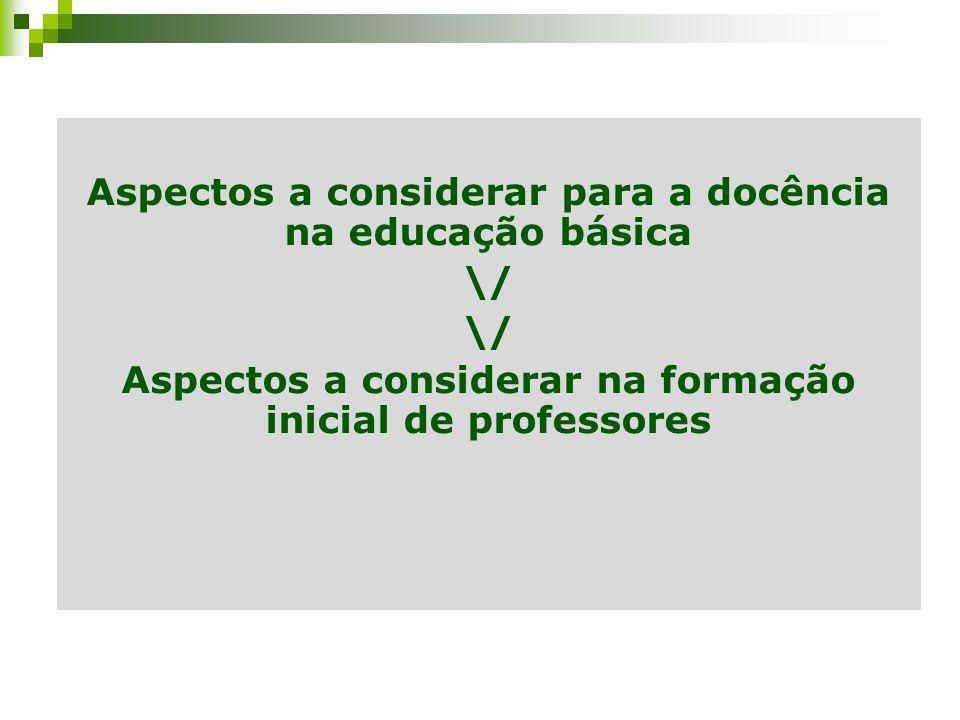 Aspectos a considerar para a docência na educação básica \/