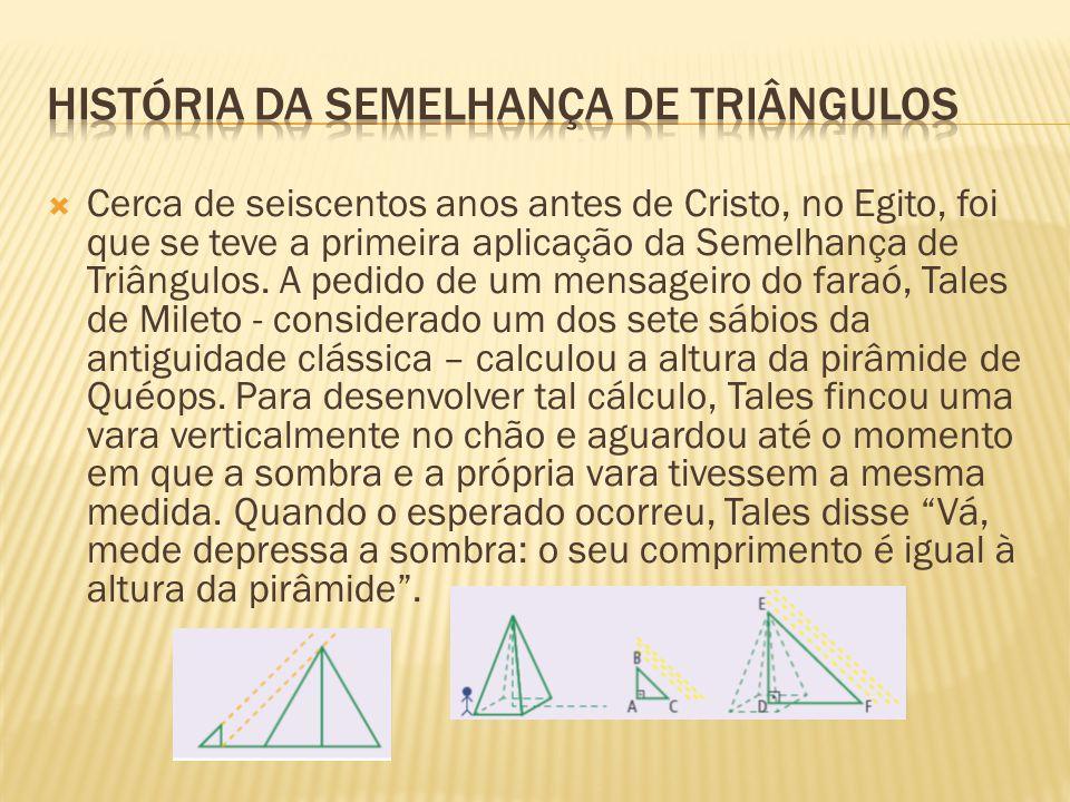 História da semelhança de triângulos