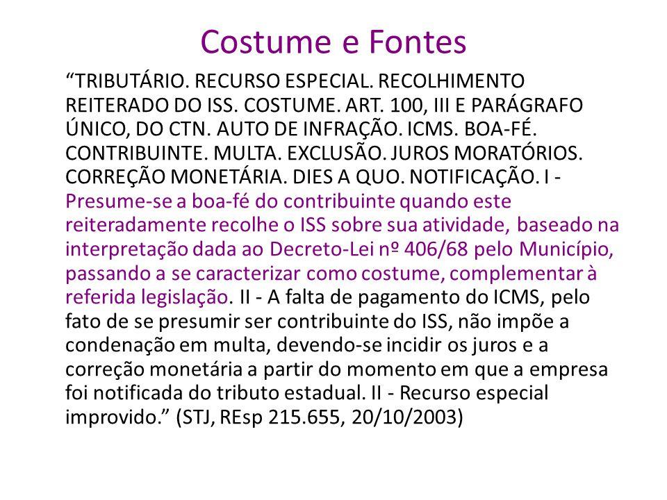 Costume e Fontes