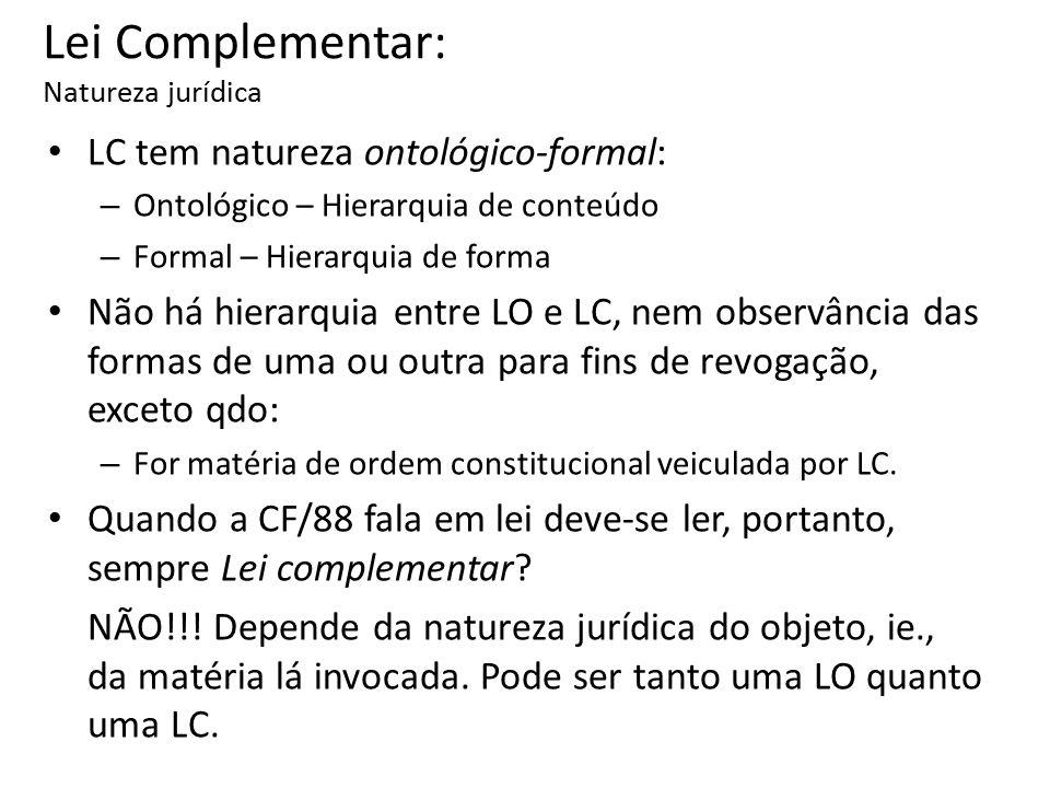 Lei Complementar: Natureza jurídica