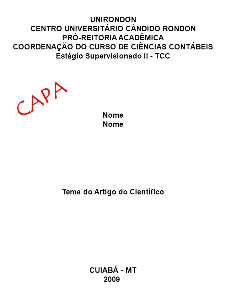 Modelo De Capa Para Artigo Redação November 2019 Ajuda