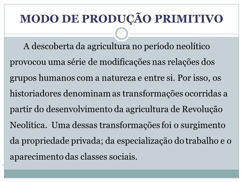 MODO DE PRODUÇÃO PRIMITIVO