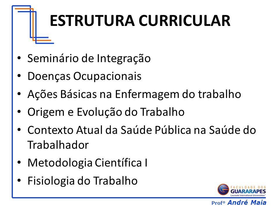 ESTRUTURA CURRICULAR Seminário de Integração Doenças Ocupacionais