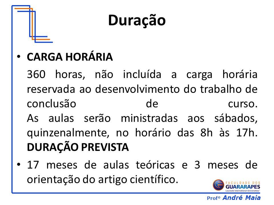 Duração CARGA HORÁRIA.