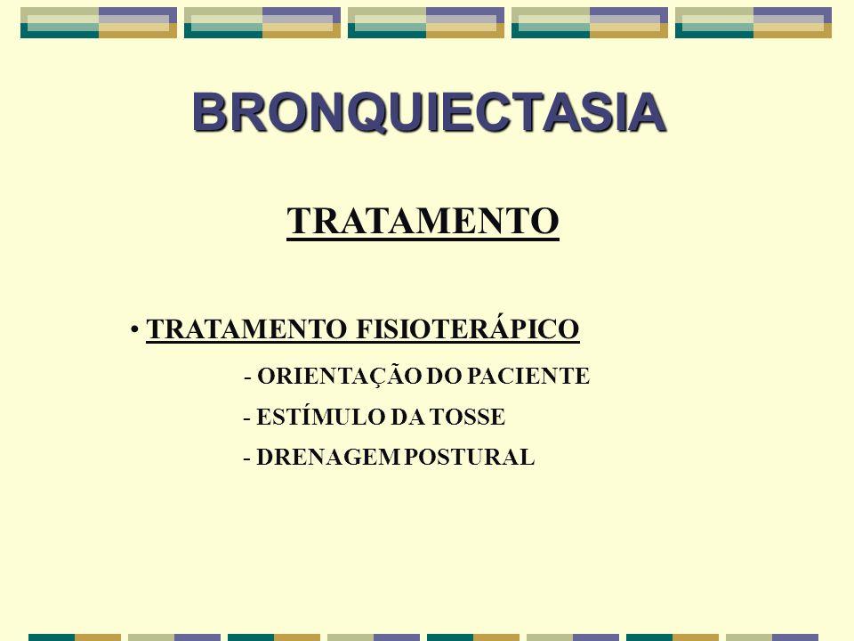 BRONQUIECTASIA TRATAMENTO TRATAMENTO FISIOTERÁPICO