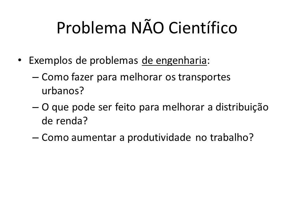 Problema NÃO Científico