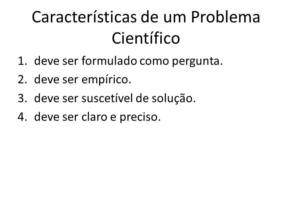 Características de um Problema Científico