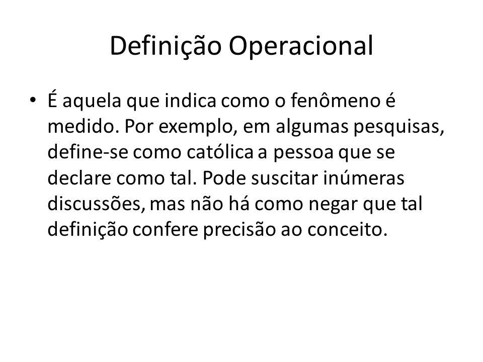 Definição Operacional