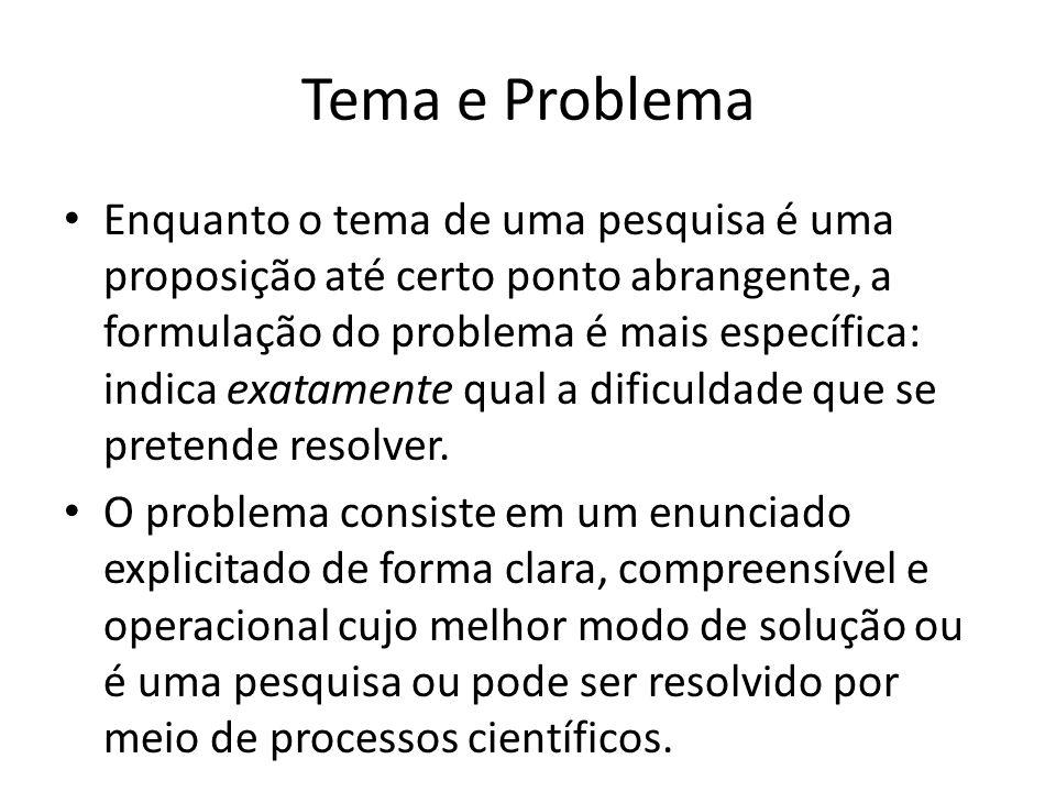 Tema e Problema
