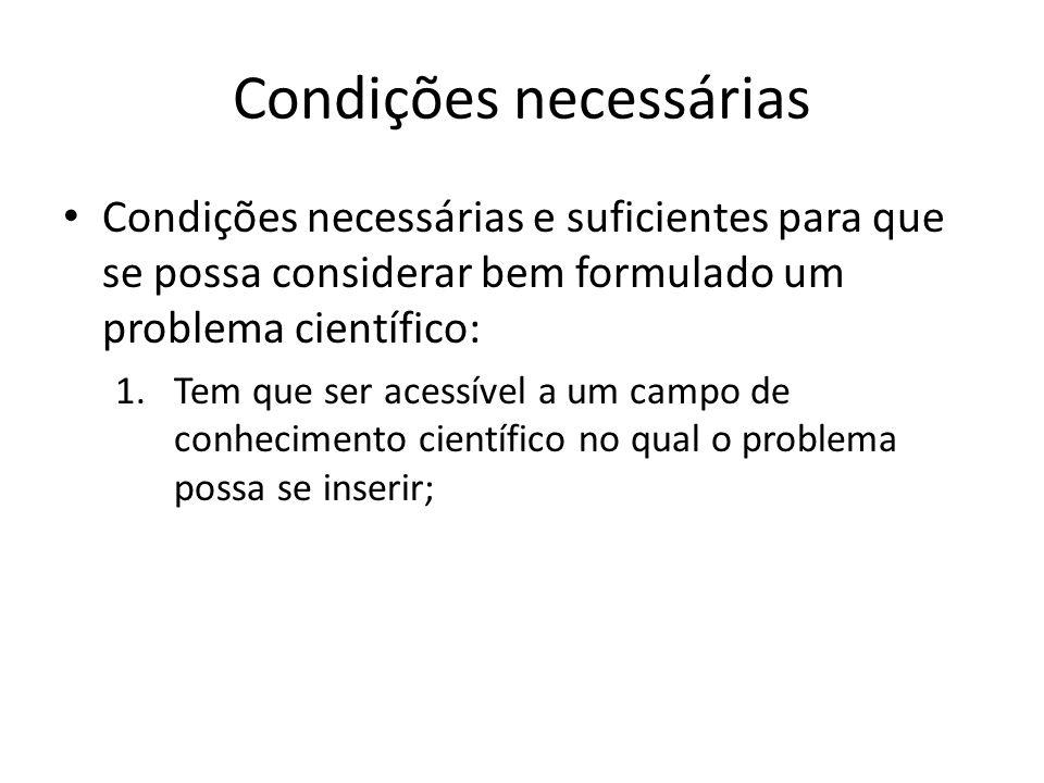 Condições necessárias
