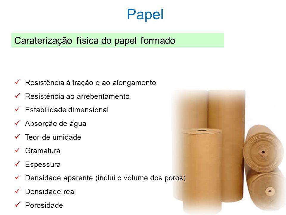 Papel Caraterização física do papel formado