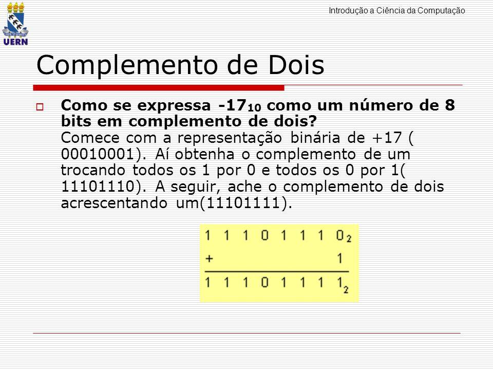 Subtrao em binario complemento de 2