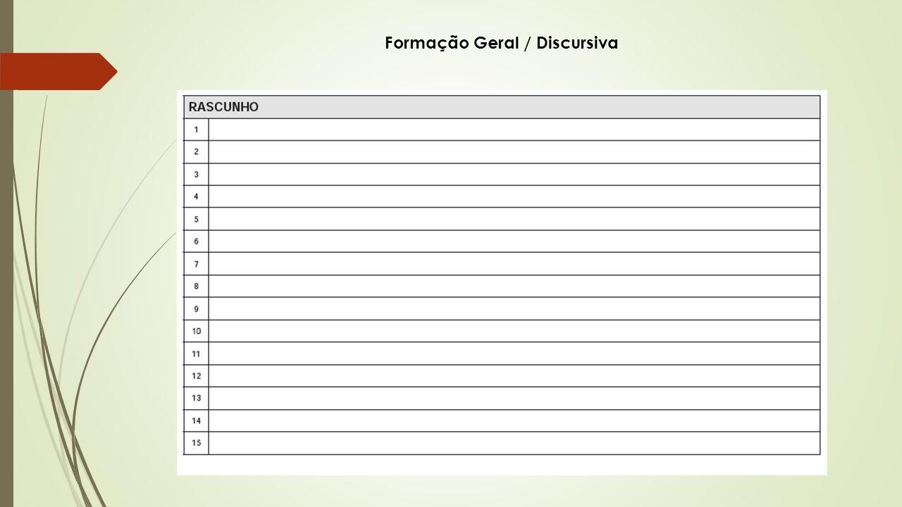 Formação Geral / Discursiva
