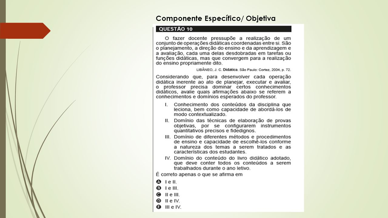 Componente Específico/ Objetiva
