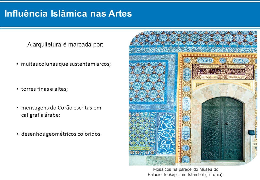 Mosaicos na parede do Museu do Palácio Topkapi, em Istambul (Turquia).