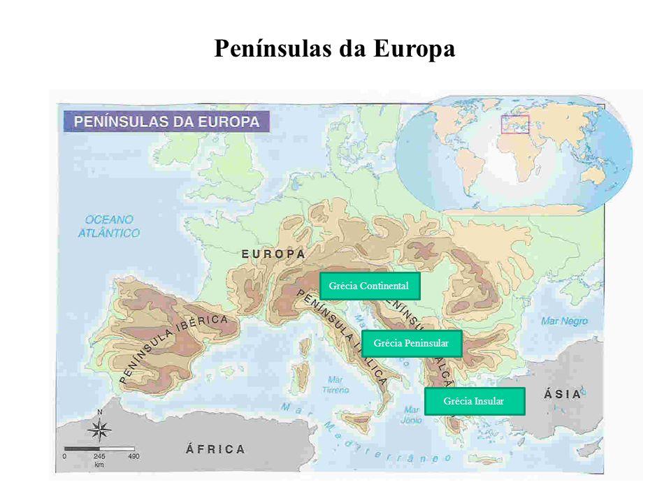 Penínsulas da Europa Grécia Continental Grécia Peninsular