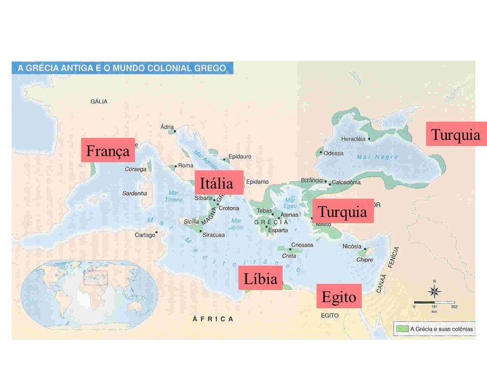 Turquia França Itália Turquia Líbia Egito
