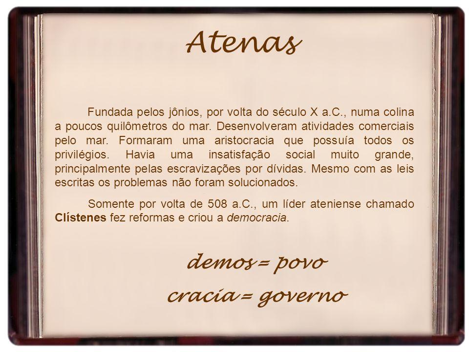 Atenas demos = povo cracia = governo
