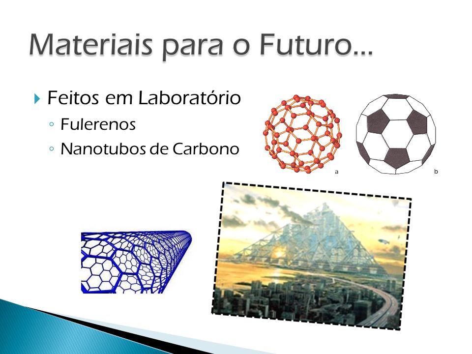 Feitos em Laboratório Fulerenos Nanotubos de Carbono