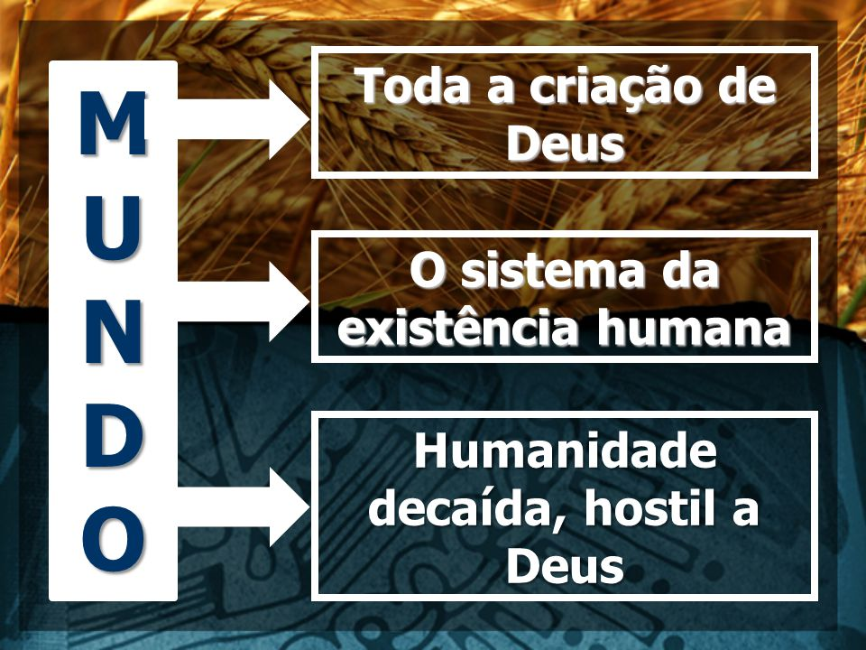 O sistema da existência humana Humanidade decaída, hostil a Deus