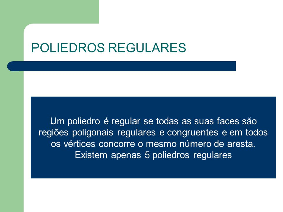 POLIEDROS REGULARES