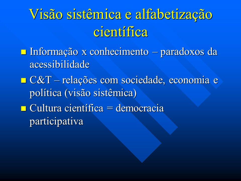 Visão sistêmica e alfabetização científica