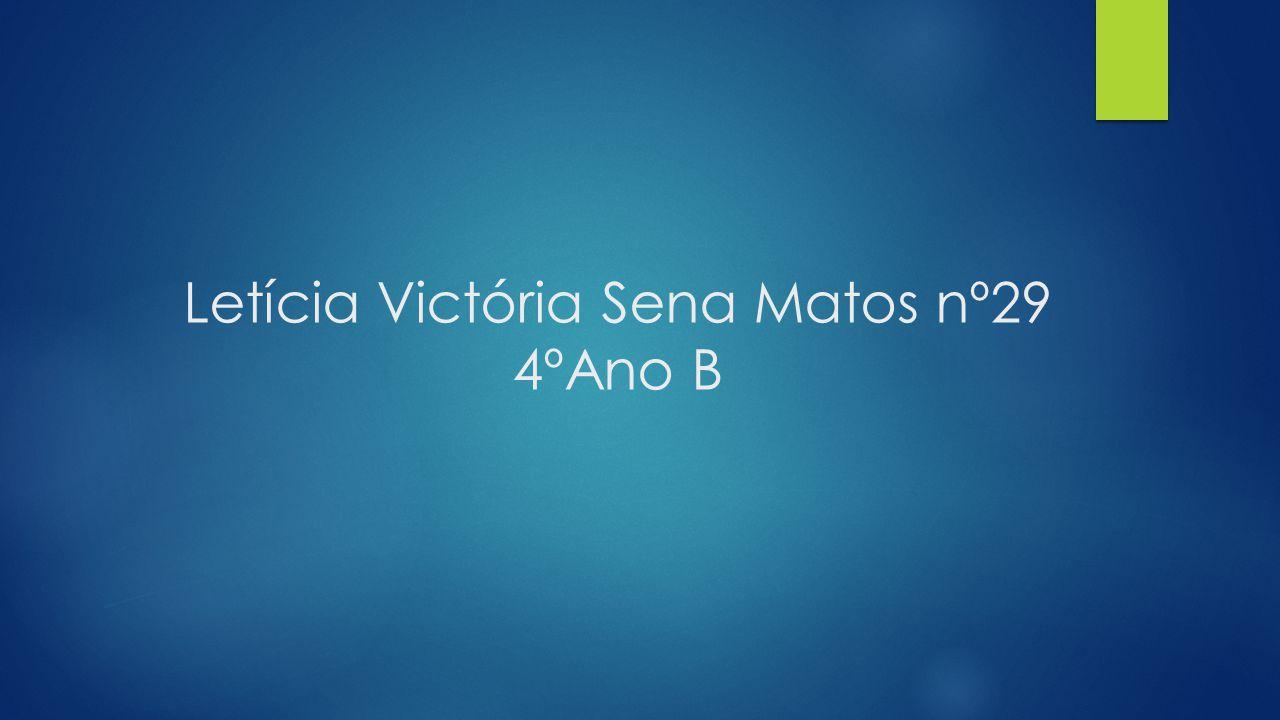 Letícia Victória Sena Matos nº29 4ºAno B