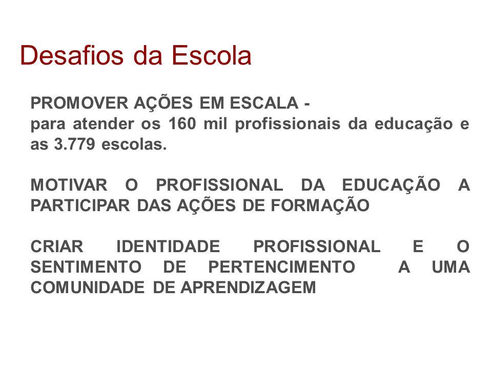 Desafios da Escola PROMOVER AÇÕES EM ESCALA -