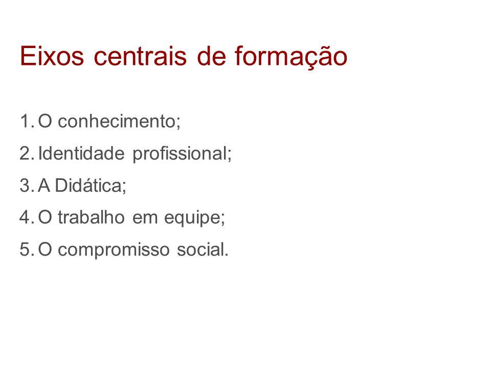 Eixos centrais de formação